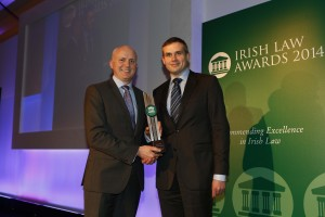 Flor McCarthy and John McCarthy of McCarthy & Co. Solicitors Winners of the Legal Website of the Year at the Irish Law Awards 2014