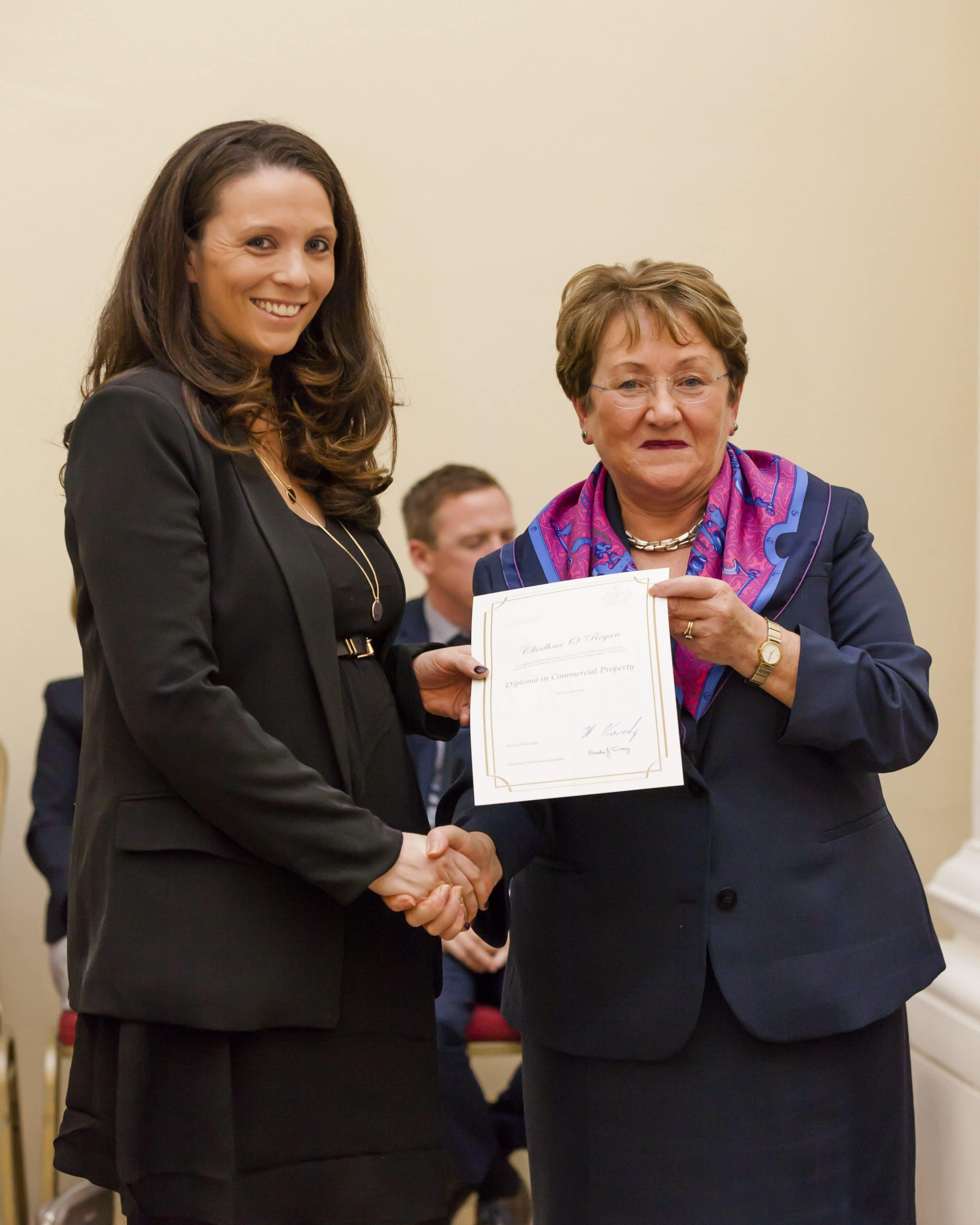 Cliodhna O'Regan Solicitor Receiving Her Diploma in Commercial Property