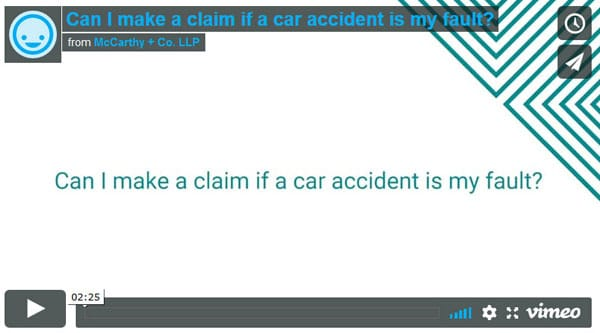 Can I make a claim if a car accident is my fault?