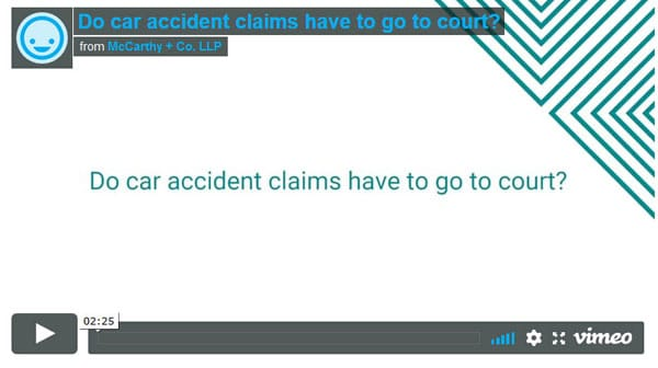 Do car accident claims have to go to court?