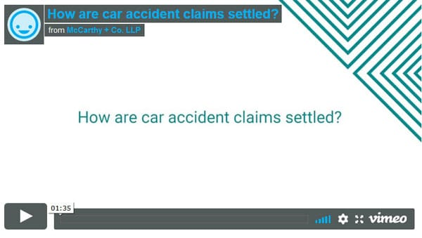How are car accident claims settled?