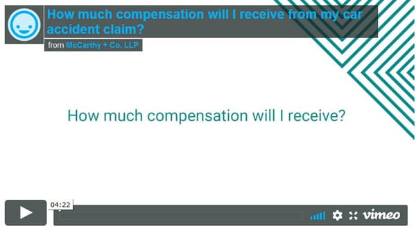 How much compensation will I receive from my car accident claim?