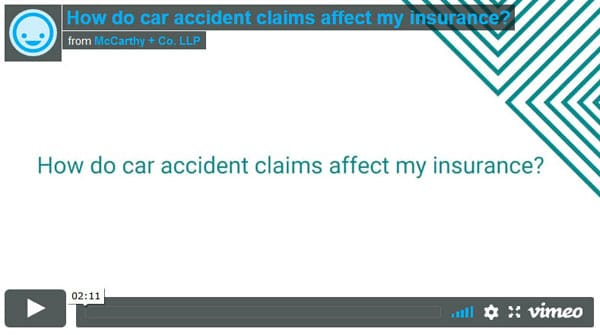 Do car accident claims affect my insurance?