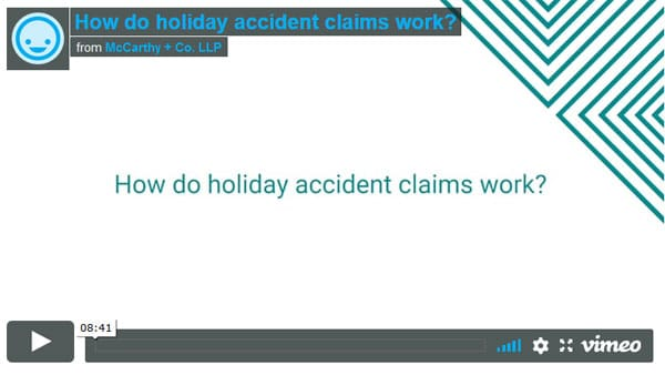 How do holiday accident claims work?
