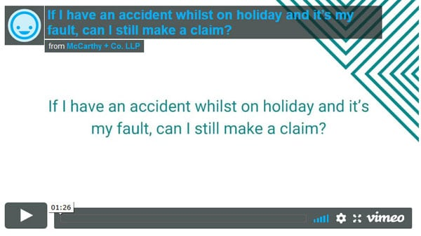 If I have an accident and it's my fault, can I claim?
