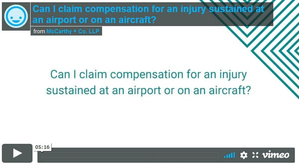 Can I claim for accident at an airport or on an aircraft?