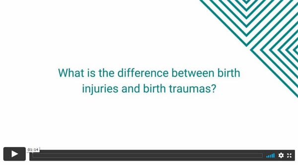 What is the difference between birth injuries and birth traumas?