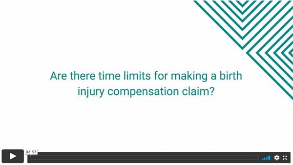 Are there time limits for making a birth injury compensation claim?