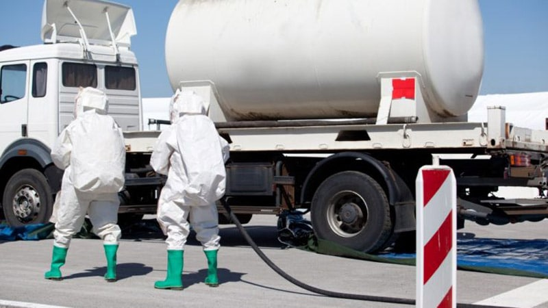 Propionic Acid Spill Truck